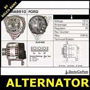 Alternator Fiat Cinquecento Ford Fiesta  Courier  Ka Mazda 121 Dra9510