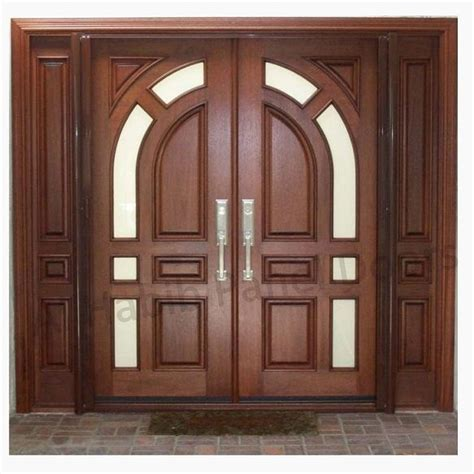 solid diyar wood double door  solid sides frame hpd main doors al habib panel doors