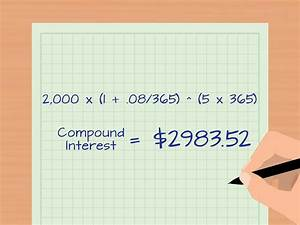 Calculating Interest Payments How To Calculate Daily Interest With Cheat Sheet Wikihow