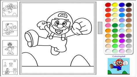 Super Mario Online Coloring Pages Game Color