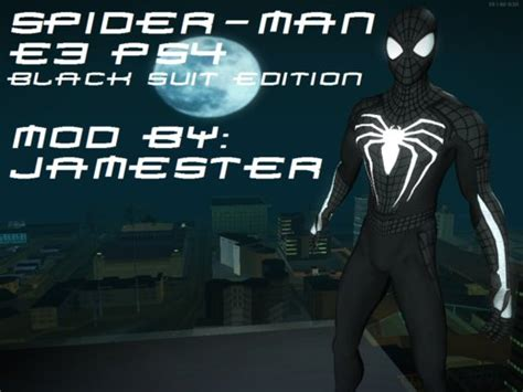 Gta San Andreas Spider-man Ps4 E3 Black Suit Edition Mod