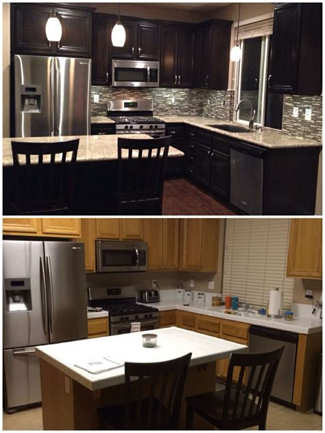 espresso kitchen cabinets with backsplash upgraded kitchen espresso dark stained cabinets added