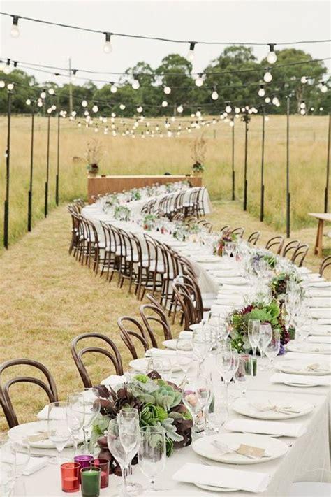 outdoor rustic wedding reception ideas wedding reception