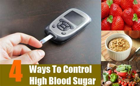 ways  control high blood sugar  diet  foods