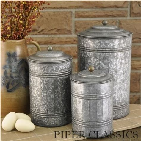 country canister sets for kitchen galvanized canisters set 3 kitchen canister sets