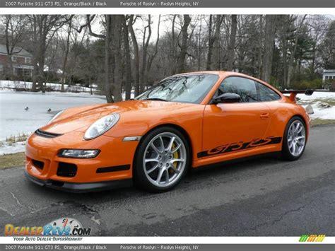 orange porsche 911 gt3 rs 2007 porsche 911 gt3 rs orange black black photo 2