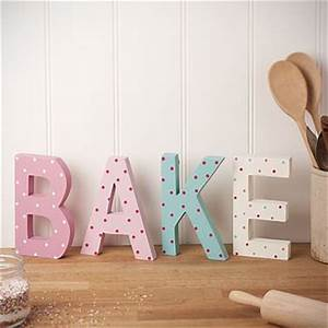 39bake39 decorative wooden letters cute for top of cabinets With bake letters