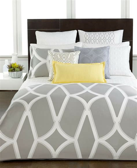 modern bedding collections hotel collection modern lancet duvet cover gray