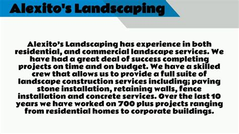 landscaping company   youtube