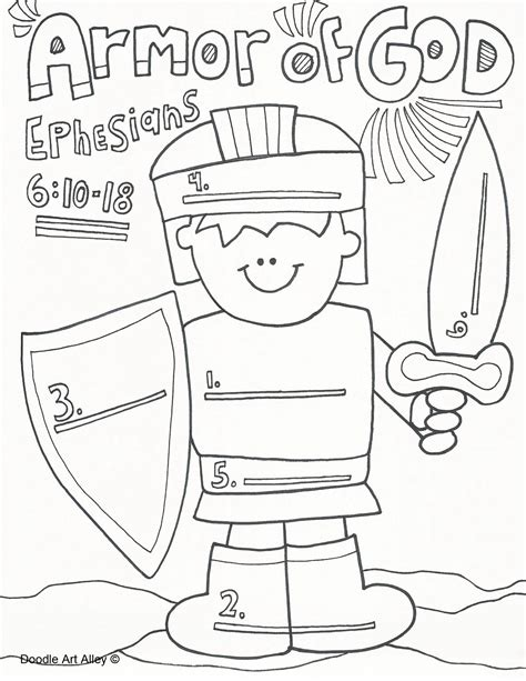 armor of god coloring pages salvation bible coloring pages sketch coloring page