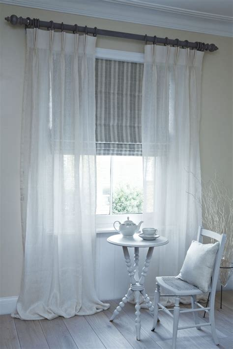 Yes! This Is What I Want!!! Sheer Curtains With Roman