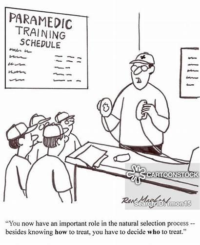 Ambulance Training Session Social Darwinism Inequality Cartoon