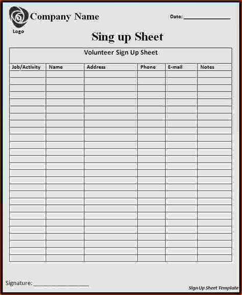 signup sheet teknoswitch