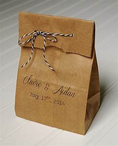 Personalized wedding favor bags candy bags kraft paper for Wedding favor gift bags