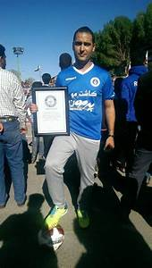 Iranian Man Breaks World Football Juggling Record