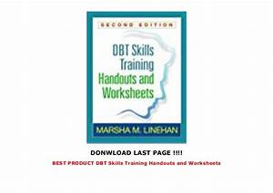 Best Product Dbt Skills Training Handouts And Worksheets