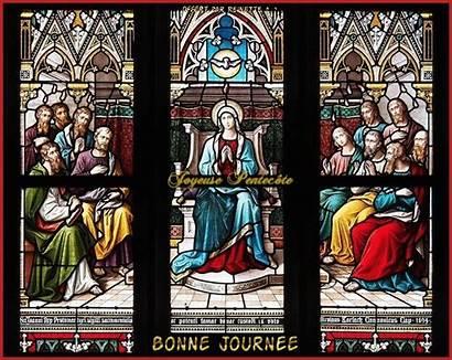 Glass Stained Pentecost Window Mary Virgin Pfingsten