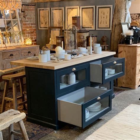 freestanding kitchen island  haberdashery drawers