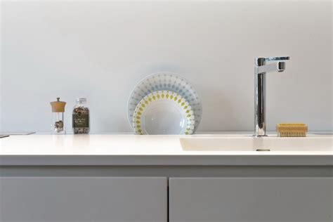 cuisine blanc mat sans poign馥 plantes vertes d 39 intérieur faciles d entretien accent accrocheur