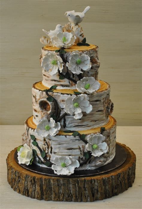 Rustic Wedding Cakes Pictures The Cake Zone Birch Tree