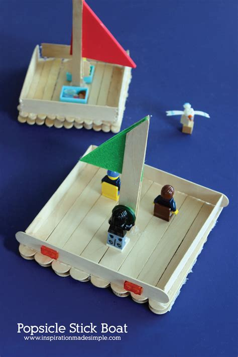 Popsicle Stick Boat Kids Craft  Inspiration Made Simple
