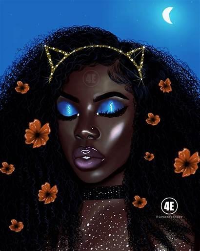 Melanin 4everestherr Magic Glitter Flowers Art635 Instagram