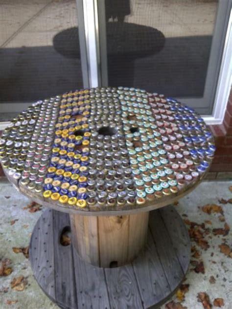 beer cap spool table      spool mit
