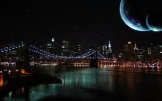 City Night Sky Desktop