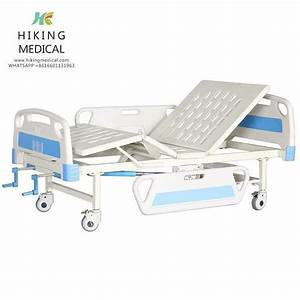 Manual Two Functions Hospital Bed With Abs Slide Guard