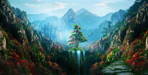 Wallpaper 4k Desktop by Autumn Colorful Nature Magical Forest 4k Hd Artist