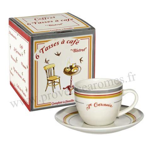 tasse a cafe paroi 6 tasses 224 caf 233 bistrot de coffret comptoir de famille provence ar 244 mes tendance sud