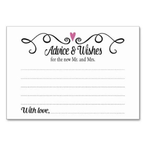 wishes for the and groom cards wedding advice cards zazzle