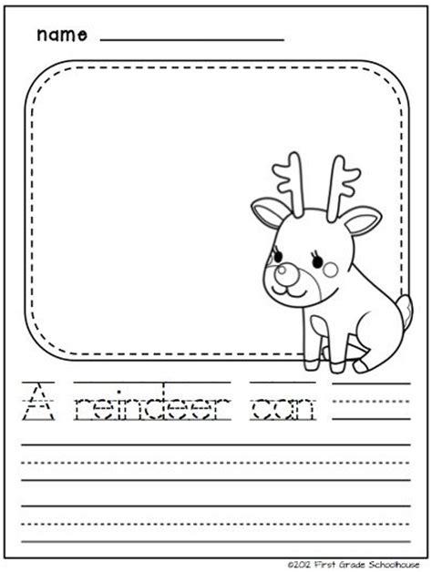 christmas writing for kindergarten seasons activities