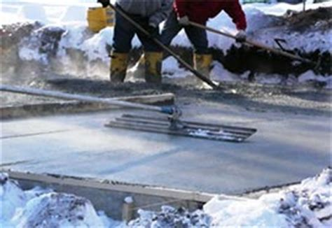 tips  pouring concrete  cold winter weather