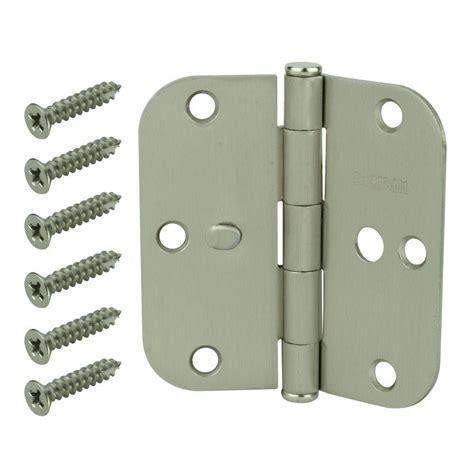 everbilt 3 1 2 in satin nickel 5 8 in radius security