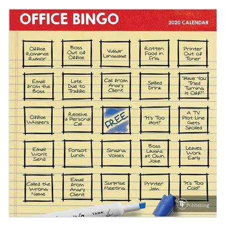 office bingo mini calendar walmartcom