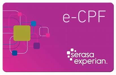 Cpf Cnpj Serasa Certificado Ecpf Experian Cartao