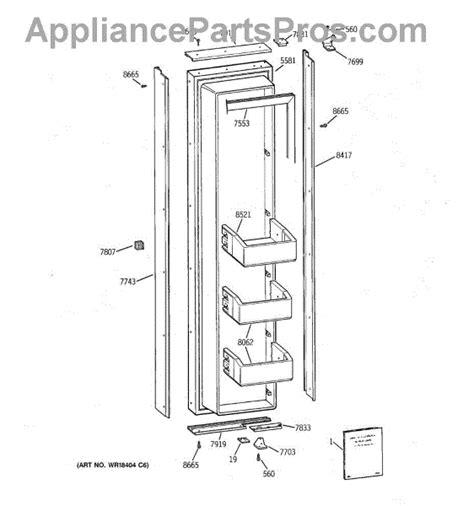 parts  ge zisnca freezer door parts appliancepartsproscom