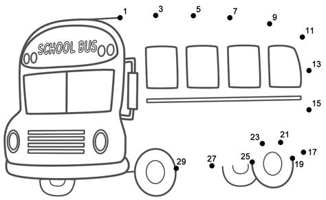 school bus connect  dots count   starting