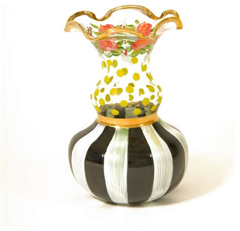 Mackenzie Childs Vase by Cheery Glass Bud Vase Mackenzie Childs Eclectic