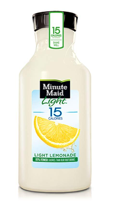 minute light lemonade calories light lemonade minute 174