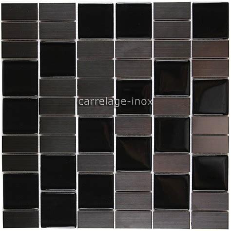carrelage inox cuisine carrelage cuisine mosaique inox et verre noir modulo