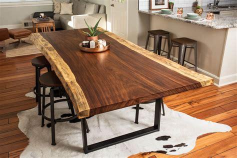 hand   edge acacia diningconference table  bdc