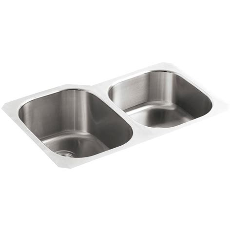kohler kitchen sinks kohler undertone undermount stainless steel 31 in
