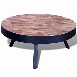 Table Basse En Solde : la boutique en ligne table basse ronde en teck recycl ~ Teatrodelosmanantiales.com Idées de Décoration