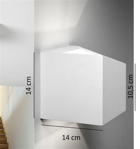 applique in gesso sforzin applique da parete in gesso cubo philius small