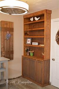 how to build a built in bookshelf How to Build Built In Bookcases With Cabinets - H20Bungalow