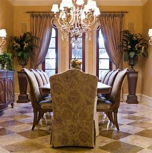 Dining room curtains dining room decor ideas and for Formal dining room drapes