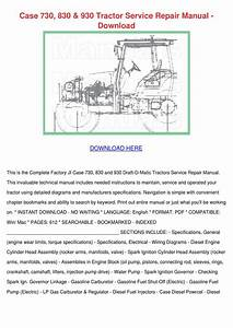 Case 730 830 930 Tractor Service Repair Manua By Charleybourque