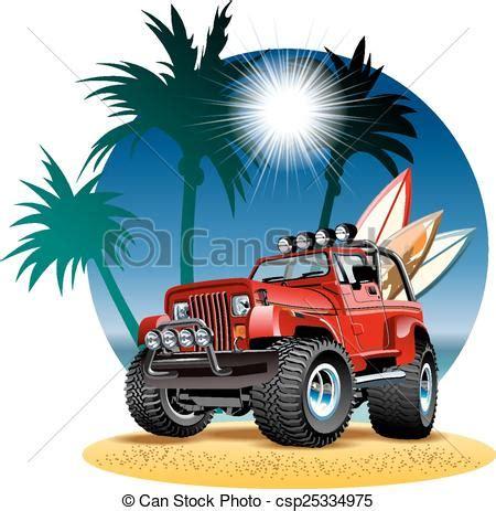 jeep beach logo illustrations vectorisées de plage voiture vecteur 4x4